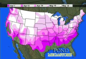 Normal Last Freeze Dates in the USA, proper planting is 7-14 days later.